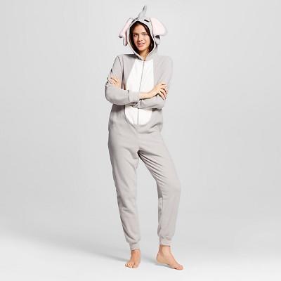 Women's Elephant Union Suit Pajamas - Grey - XL - Xhilaration™
