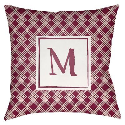Decorative Pillow Surya Maroon