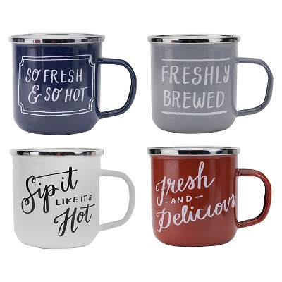 Mug Set of 4 12oz Stainless Steel - Threshold™
