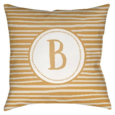 "Surya Treasured Time Beta Pillow - Old Gold (18"" x 18"")"
