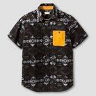 Boys' Short Sleeve Button Down Shirt Black - Mossimo Supply Co.™