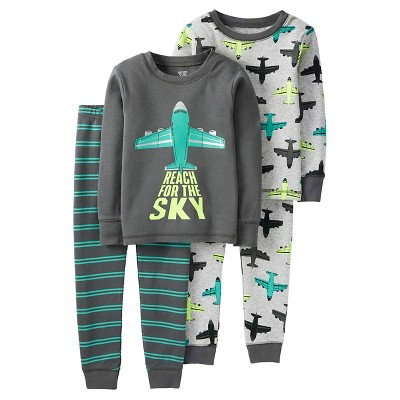 Baby Boys' 4 Piece Reach For The Sky Cotton PJ Set 12M - Just One You™Made by Carter's®