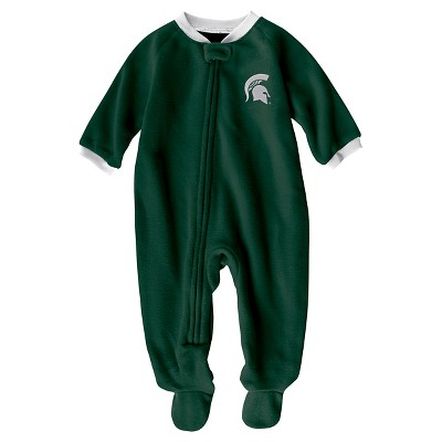 NCAA Michigan State Spartans Boys Footed Sleeper - 0-3 M