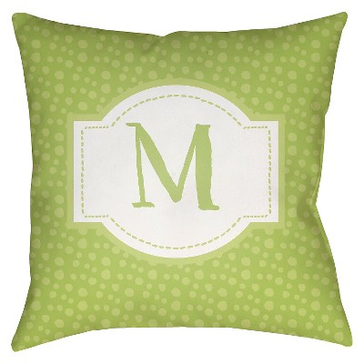 "Surya Treasured Traditions Mu Pillow - Light Green (18"" x 18"")"