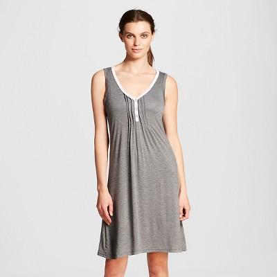 Lamaze Women's Nursing Henley Chemise Pajamas - Charcoal Gray L