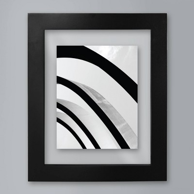 "Wide Black Gallery 11""x14"" Matted for 8""x10"" Frame - Room Essentials™"