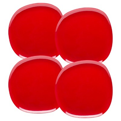 Zak! Moso 10in Plate Red - Set of 4