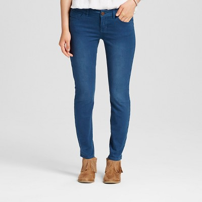 Women's Mid Rise Colored Skinny Jeans Azul 3 - Dollhouse (Juniors')