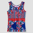 Say What? Girls' Aztec Print Tank Red/White/Blue S