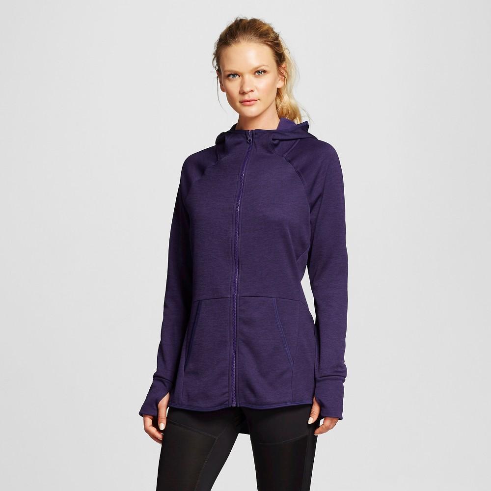 Women's Tech Fleece Full Zip Jacket - Dark Blue Heather M - C9 Champion, Size: Medium
