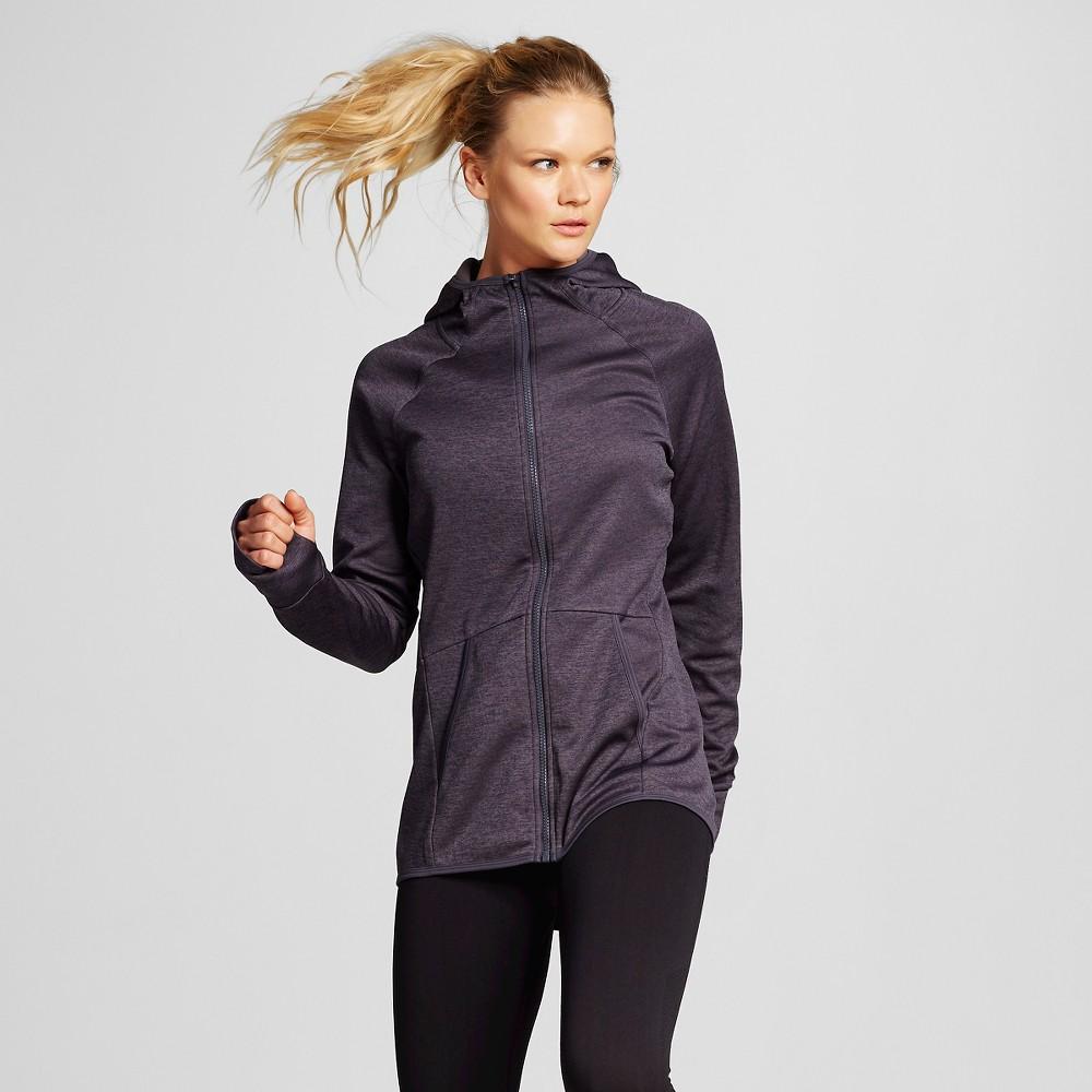 Women's Tech Fleece Full Zip Jacket - Dark Gray Heather XL - C9 Champion, Dark Grey