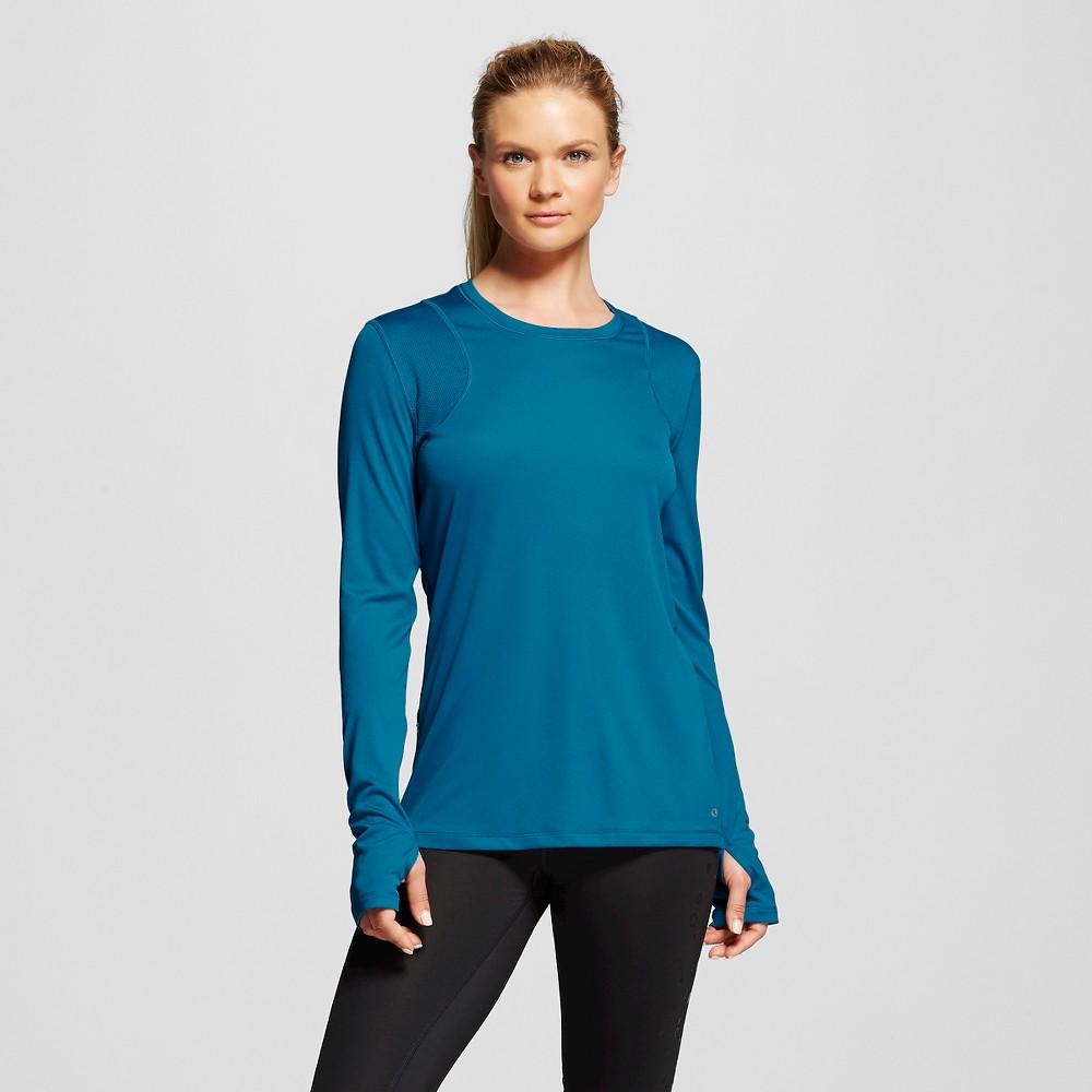 Women's Long Sleeve Ventilated Tech T-Shirt - Blue Oasis L - C9 Champion, Size: Large, Oasis Blue