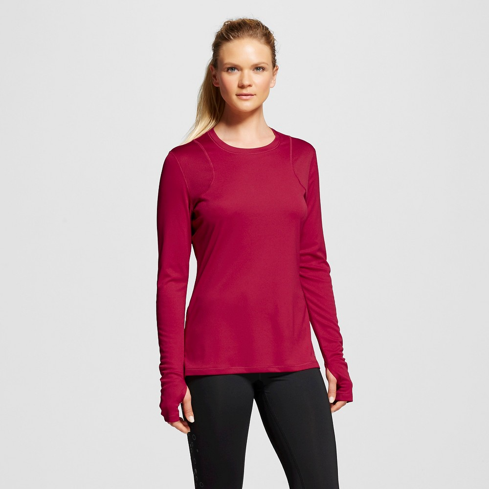 Women's Long Sleeve Ventilated Tech T-Shirt - Armature Red XL - C9 Champion