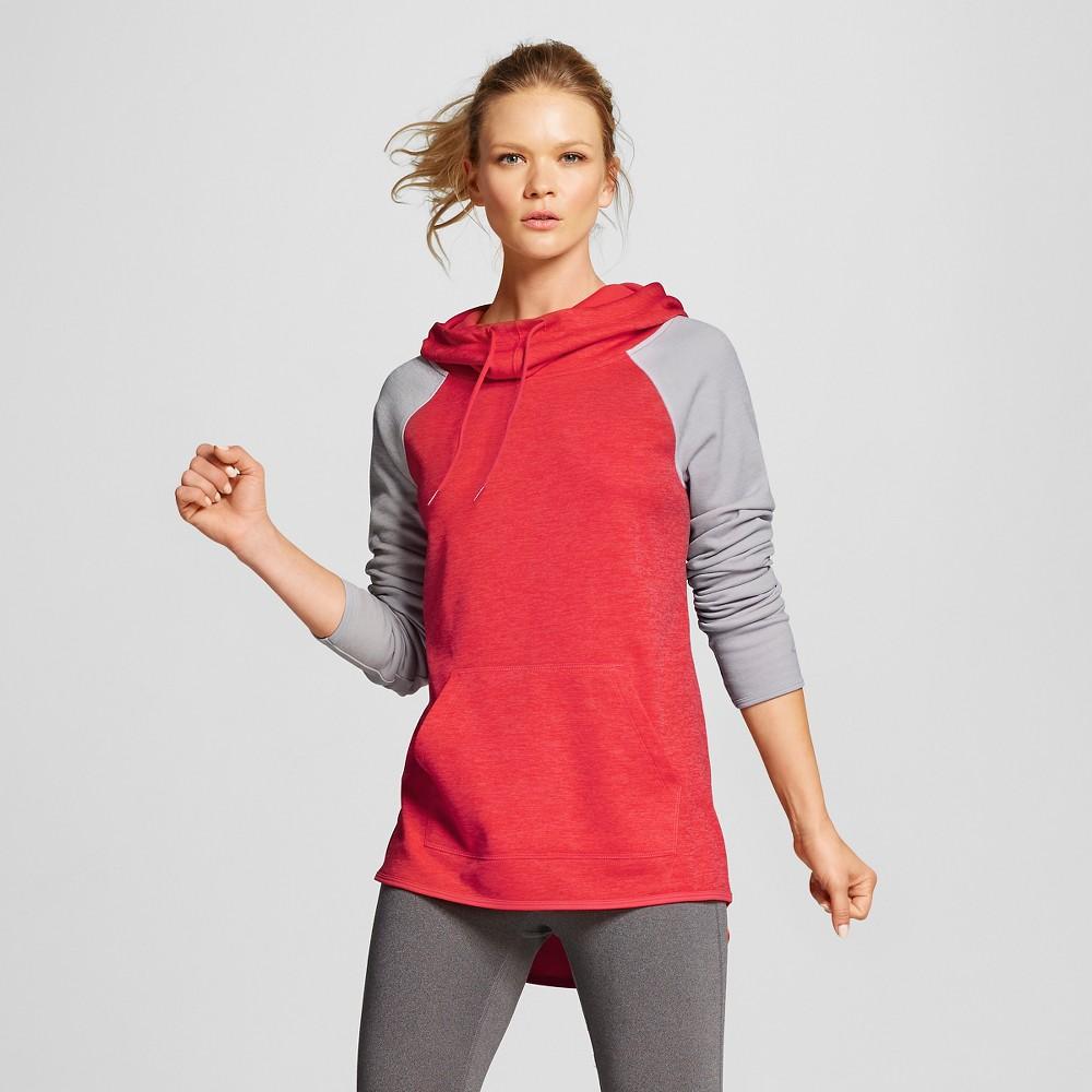 Women's Tech Fleece Hoodie - Red Spark Heather XL - C9 Champion