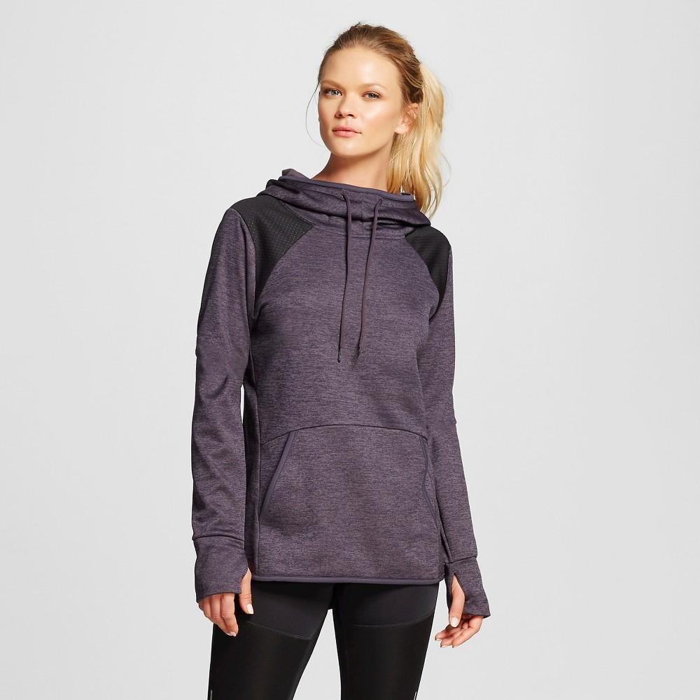 Women's Novelty Tech Fleece Hoodie - Dark Gray Heather Emboss Dots Xxl - C9 Champion, Dark Grey