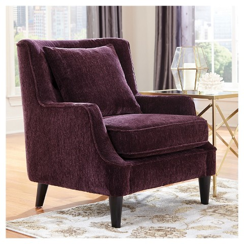 Velvet Accent Chair Purple Donny Osmond Home Target