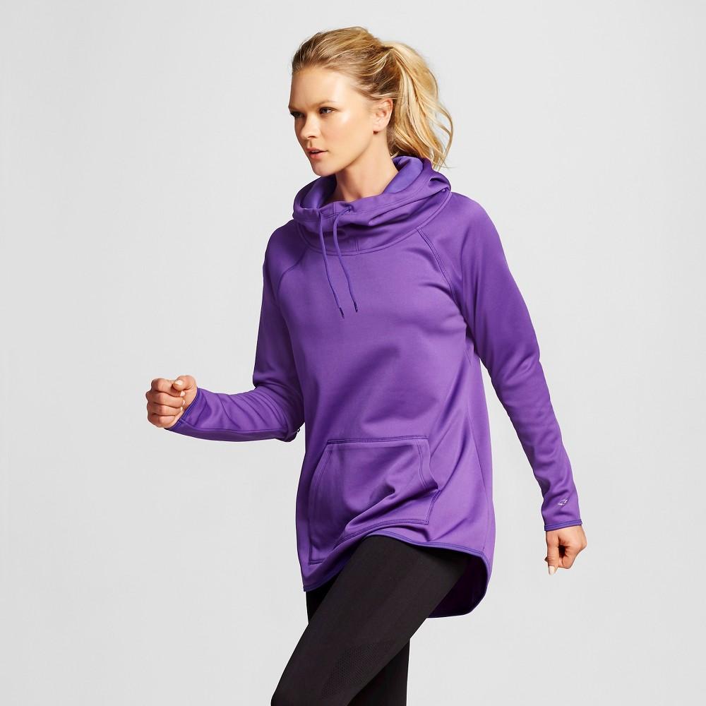 Women's Tech Fleece Hoodie - Purple L - C9 Champion, Size: Large