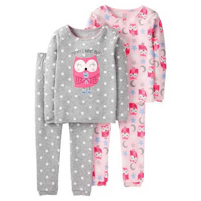 Toddler Girls' 4 Piece Pink Owl Cotton PJ 2T - Just One You™Made by Carter's®