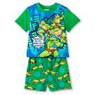 Toddler Boys' Teenage Mutant Ninja Turtles Short Sleeve 2-Piece Pajama Set Green 2T
