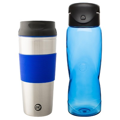 Zak! Planet Zak Hot/Cold Tumblers Sapphire and Artic - Set of 2