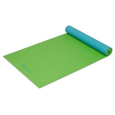 Gaiam Yoga Mat- 5mm 2-sided Green/Blue