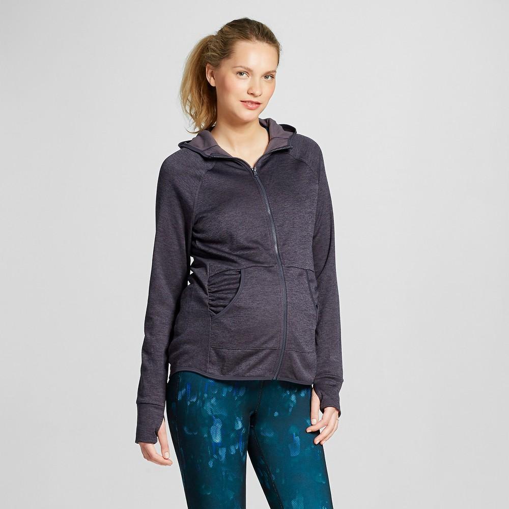 Women's Maternity Tech Fleece Full Zip Hoodie - Gray Heather XL - C9 Champion, Heather Grey