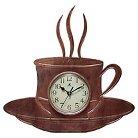 Infinity Instruments Coffee Cup Decorative Clock - Bronze