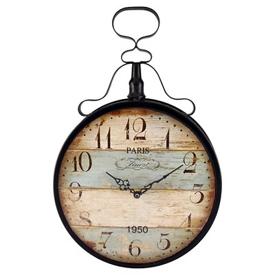 Infinity Instruments Paris Finest Decorative Clock - Black