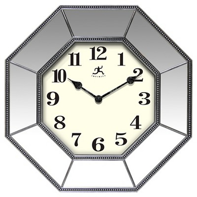 Infinity Instruments Estella Mirrored Decorative Clock