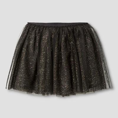 Girls' Tutu Polka Dot Skirt Cat & Jack™ - Black XS