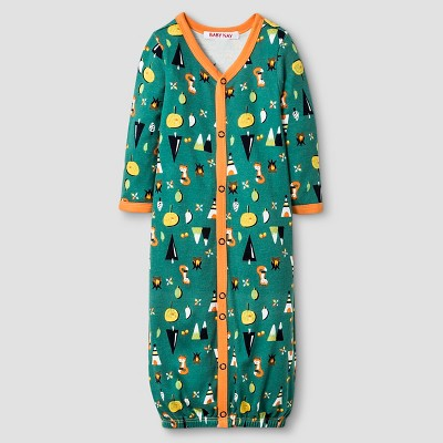 Baby Nay® Baby Boys' Campfire Friends Nightgown Converter - Orange 3-6M