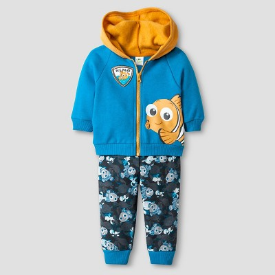 Baby Boys' Disney® Finding Nemo Hoodie & Pant Set - Blue 0-3M