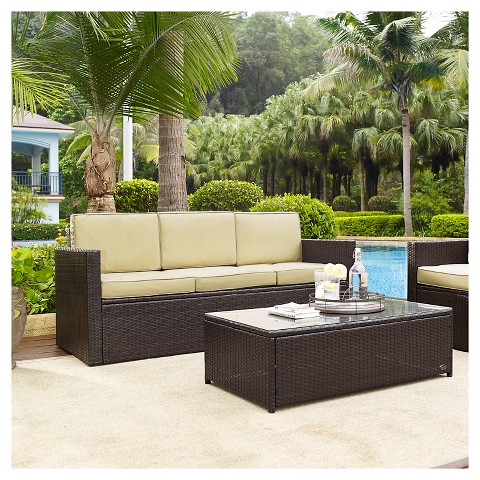Crosley Palm Harbor Outdoor Wicker Sofa Target