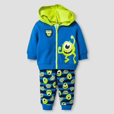 Baby Boys' Disney® Monsters Inc. Hoodie & Pant Set - Green 0-3M