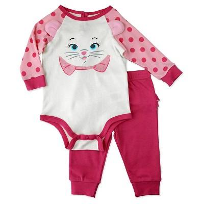 Baby Girls' Disney® Aristocat Top & Bottom Set - Pink 0-3M