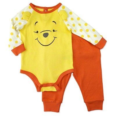 Baby Boys' Disney® Winnie the Pooh Top & Bottom Set - Yellow 0-3M
