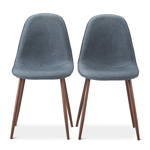 porter mid century modern upholstered dining chair set of 2 ebay. Black Bedroom Furniture Sets. Home Design Ideas