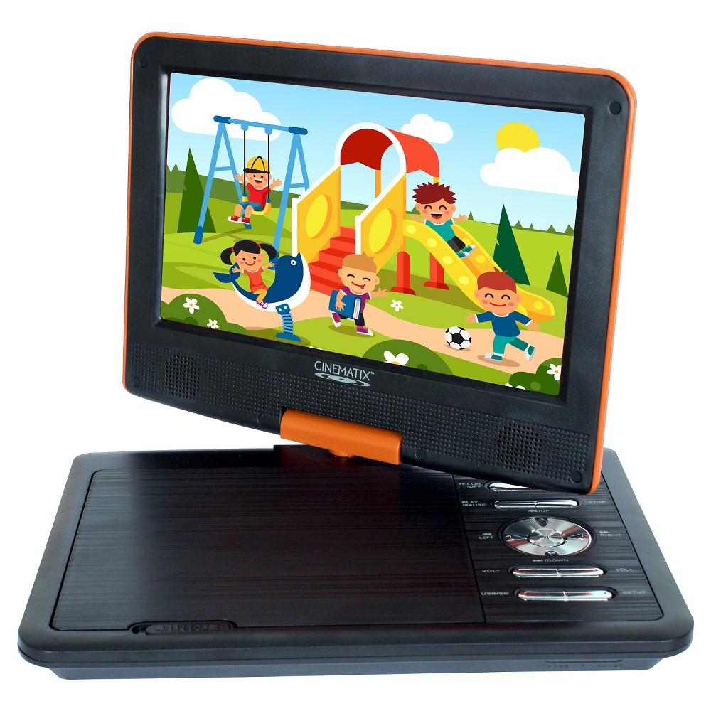 "Cinematix 9"" Portable DVD Player Orange 70170"