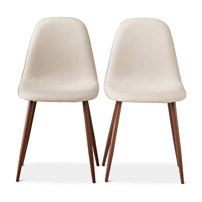 Porter Mid Century Modern Upholstered Dining Chair Set