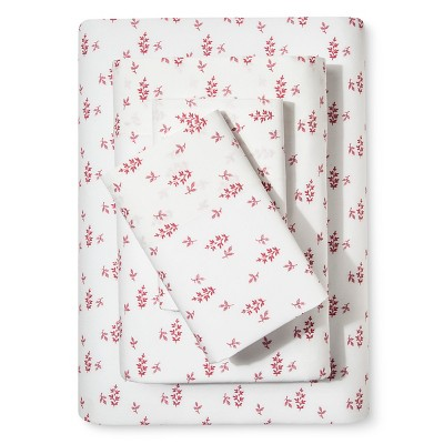 Darby Way Floral Sheet Set (Full) Cherry - Beekman 1802 FarmHouse™