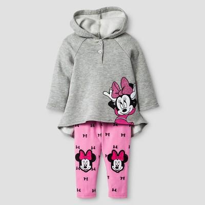 Baby Girls' Disney® Minnie Mouse Hoodie & Pant Set - Pink 3-6M