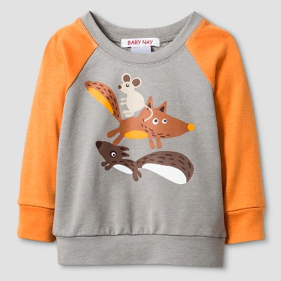 Baby Nay® Baby Boys' Campfire Friends Sweatshirt - Grey 3M