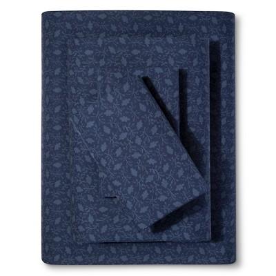 Ivy Floral Sheet Set (King) Dark Navy - Beekman 1802 FarmHouse™
