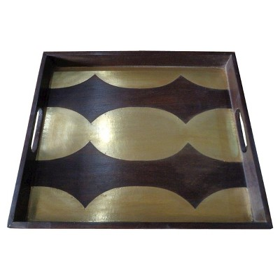 Wood and Metal Inlay Tray - Threshold™