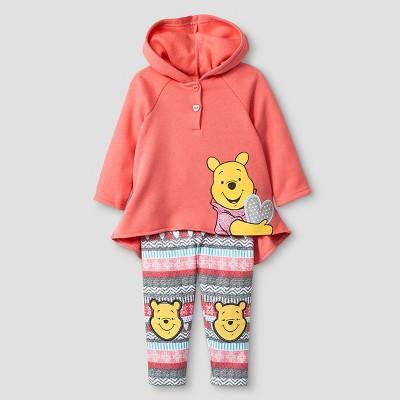 Baby Girls' Disney® Winnie the Pooh Hoodie & Pant Set - Orange 0-3M