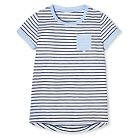 Girls' Blue Stripes Easy T-Shirt XL - Cherokee®