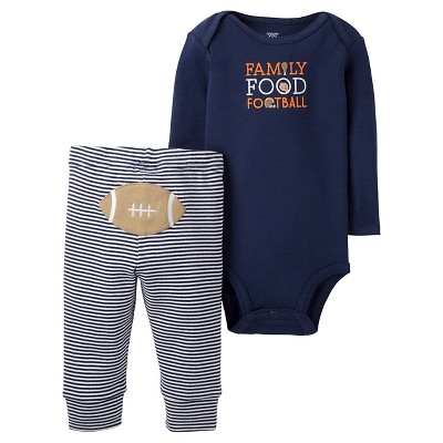 Baby Boys' 2-Piece Family Food Football Set 6M - Just One You™Made by Carter's®