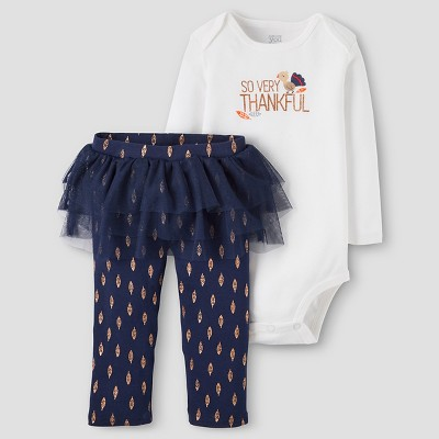 Baby Girls' 2-Piece So Very Thankful Set 3M - Just One You™Made by Carter's®