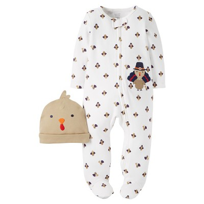 Babys' Turkey Sleep-N-Play and Hat Set NB - Just One You™Made by Carter's®