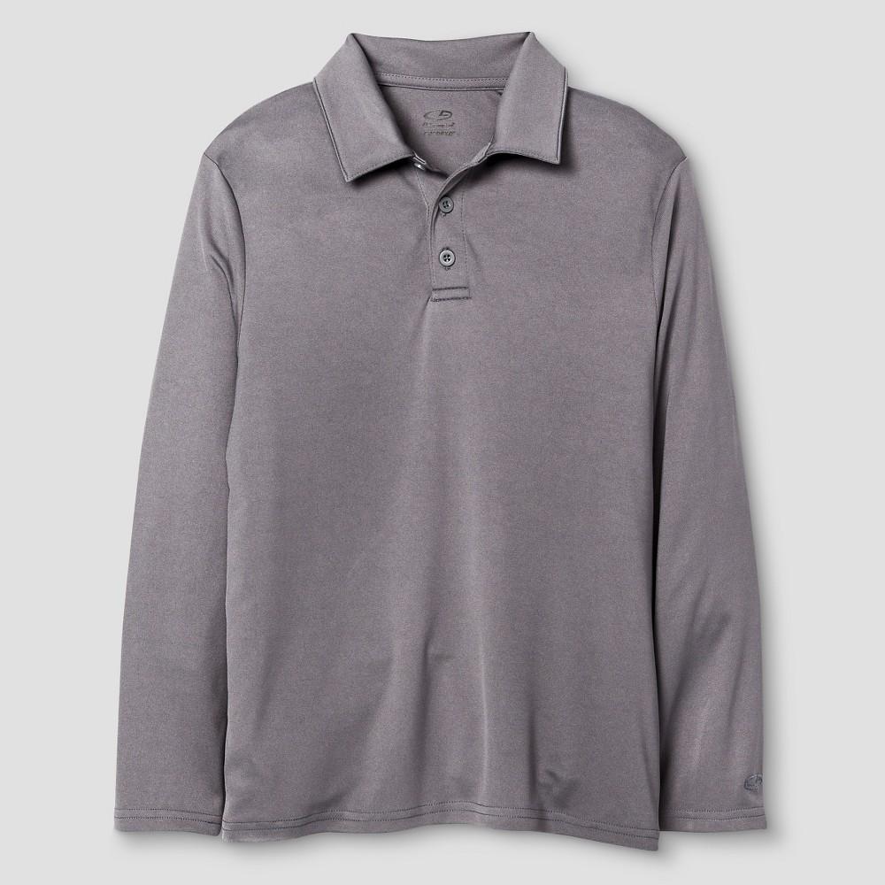 C9 Champion Boys' Long Sleeve Golf Polo - Gray L, Men's, Size: Large, Grey